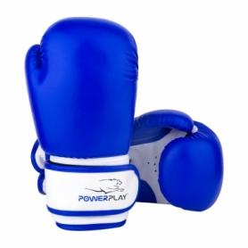 Перчатки боксерские PowerPlay 3004 JR (PP_3004JR_Blue/White) - сине-белые
