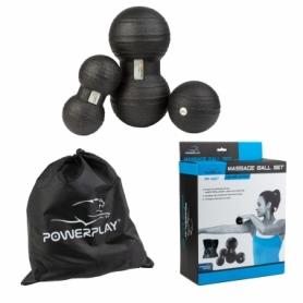 Набор массажных мячей PowerPlay 4007 (PP_4007_Black), 3 шт