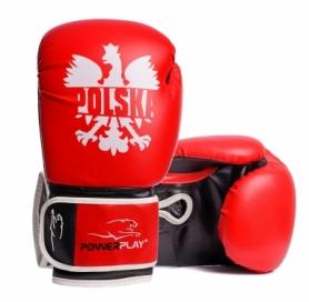 Перчатки боксерские PowerPlay 3021-1 (PP_3021_1P_Red_Black)
