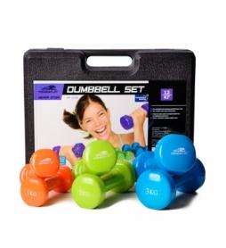 Набор гантелей для фитнеса в кейсе PowerPlay 4118, 12 кг