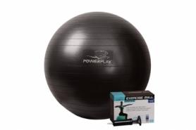 Мяч для фитнеса (фитбол) 65 см PowerPlay (4001) - черный