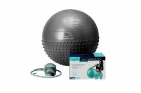 Мяч для фитнеса (фитбол) 75 см PowerPlay 4003 темно-серый