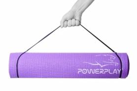 Коврик для фитнеса и йоги PowerPlay (PP_4010_Voilet_(183*0,6)) - фиолетовый