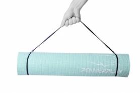 Коврик для фитнеса и йоги PowerPlay (PP_4010_Mint_(183*0,6)) - мятный