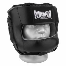 Шлем боксерский тренировочный PowerPlay 3067 з бампером PU + Amara (PP_3067_Black)