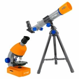 Микроскоп Bresser Junior - 40x-640x + Телескоп SN928504, 40x