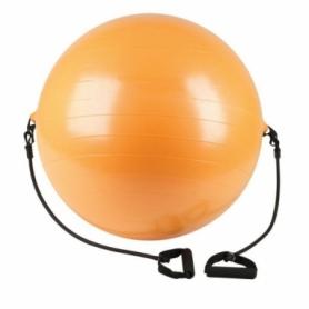 Мяч для фитнеса (фитбол) 75 см с эспандерами  Redcore (SS-LGB-1505-75)