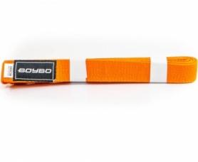 Пояс для кимоно BoyBo WS1-17 - оранжевый, 2,8 м