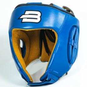 Шлем для единоборств BoyBo натуральная кожа, синий
