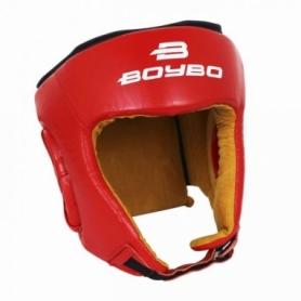 Шлем для единоборств BoyBo натуральная кожа, красный