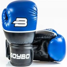Перчатки боксерские BoyBo Ultra кожзаменитель, синий SF5