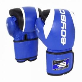 Перчатки боксерские BoyBo Elite кожа, синий SF3-34