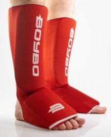 Защита для ног (голень + стопа) BoyBo красный, хлопок ZD-13