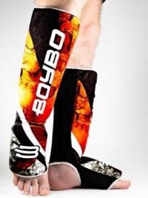 Защита для ног (голень + стопа) BoyBo Red Flame, нейлон ZD-63