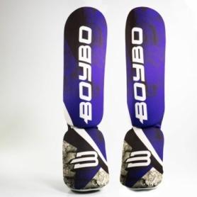 Защита для ног (голень + стопа) BoyBo Blue Flame, нейлон ZD-64