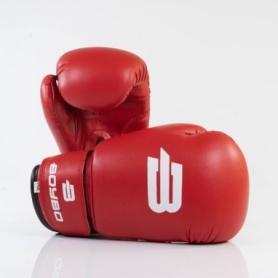 Перчатки боксерские BoyBo Basic кожзаменитель, красный SF1-43