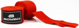 Бинты боксерские BoyBo красные, 2,5 метра (GN-1325)