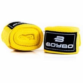 Бинты боксерские BoyBo желтый, 2,5 метра (GN-1225)