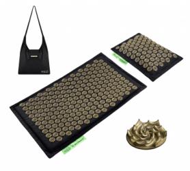 Коврик акупунктурный с валиком 4FIZJO Eco Mat 4FJ0179, золотой