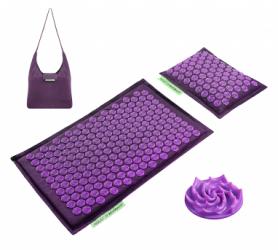 Коврик акупунктурный с валиком 4FIZJO Eco Mat 4FJ0181, пурпурный