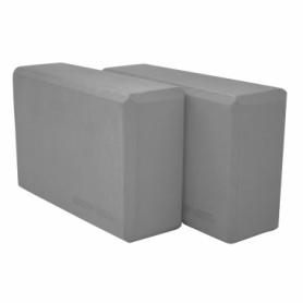 Блок для йоги SportVida SV-HK0155-2 (2 шт.), серый