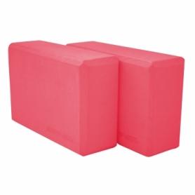Блок для йоги SportVida SV-HK0168-2 (2 шт.), розовый