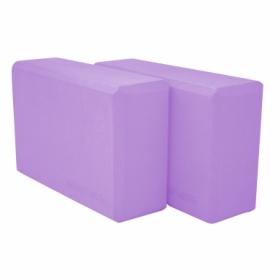 Блок для йоги SportVida SV-HK0174-2 (2 шт.), фиолетовый