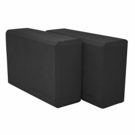 Блок для йоги SportVida SV-HK0175-2 (2 шт.), черный