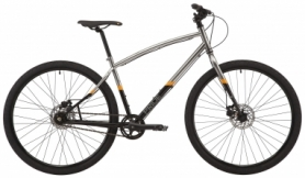 "Велосипед городской 28"" Pride Rocksteady 8.3 рама - L, 2020 BLACK/GRAY (SKD-51-74)"