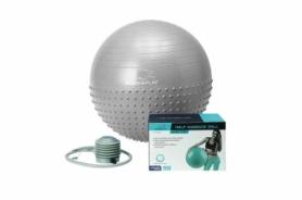 Мяч для фитнеса (фитбол) 65 см PowerPlay 4003 светло-серый