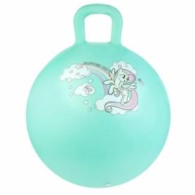 Мяч-прыгун детский с ручкой Spokey My Little Pony (927215) - бирюзовый, 45 см