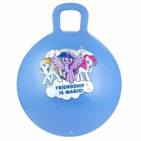 Мяч-прыгун детский с ручкой Spokey My Little Pony (927216) - голубой, 45 см