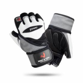 Перчатки мужские для фитнеса и тяжелой атлетики с напульсником Way4you (w-1053)