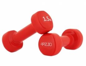 Гантели виниловые 4Fizjo (4FJ0196), 2 шт по 1,5 кг