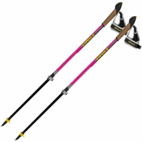 Палки для скандинавской ходьбы Vipole Instructor Vario QL Violet DLX S2029 (SN928538), розовые