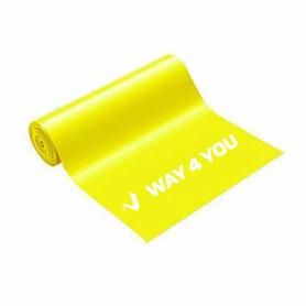 Лента эластичная для фитнеса Way4you Light (40160), желтая