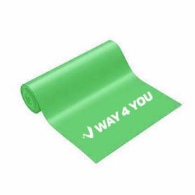 Лента эластичная для фитнеса Way4you Medium (40161), зеленая