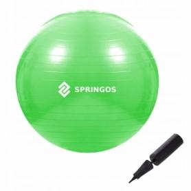 Мяч для фитнеса (фитбол) 65 см Springos Anti-Burst Green (FB0007)