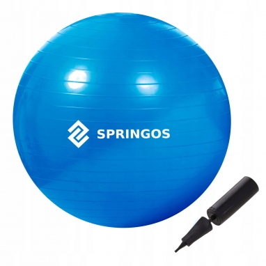Мяч для фитнеса (фитбол) 85 см Springos Anti-Burst Blue (FB0009)