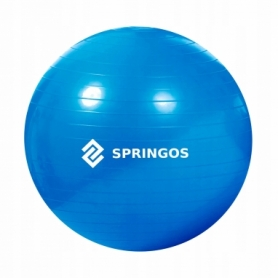 Мяч для фитнеса (фитбол) 85 см Springos Anti-Burst Blue (FB0009) - Фото №5