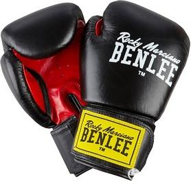 Перчатки боксерские Benlee Fighter Кожа (194006 (blk/red)) - черно-красные