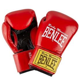 Перчатки боксерские Benlee Fighter Кожа (194006 (red/blk)) - красно-черные