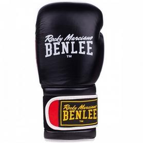 Перчатки боксерские Benlee Sugar Deluxe Кожа (194022 (blk/red)