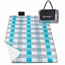 Коврик для пикника и кемпинга складной Springos (PM014) - бело-голубой, 240 x 200 см