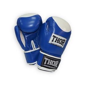 Перчатки боксерские Thor Competition Кожа (500/02(Leath) BLU/WHITE)