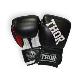 Перчатки боксерские Thor Ring Star Кожа (536/02(Le)BLK/WHT/RED)