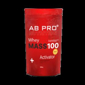 Гейнер AB PRO MASS 100 Whey Activator (ABPR40040) - клубника, 1000 г