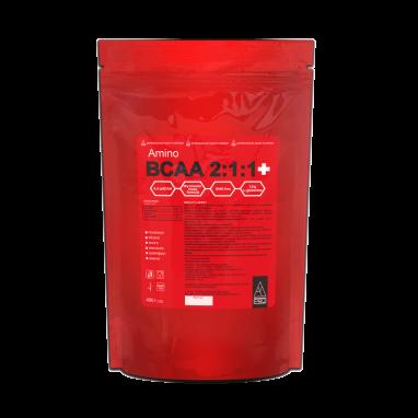 Аминокислотный комплекс AB PRO Amino BCAA 2:1:1+ (ABPR40076) - клубника, 400 г