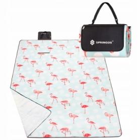 Коврик для пикника и кемпинга складной Springos (PM011) - бело-красный, 240 x 200 см