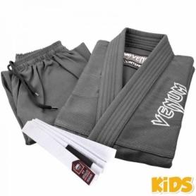 Кимоно детское для бразильского джиу-джитсу Venum Contender 2.0 серое (FP-7083-1)